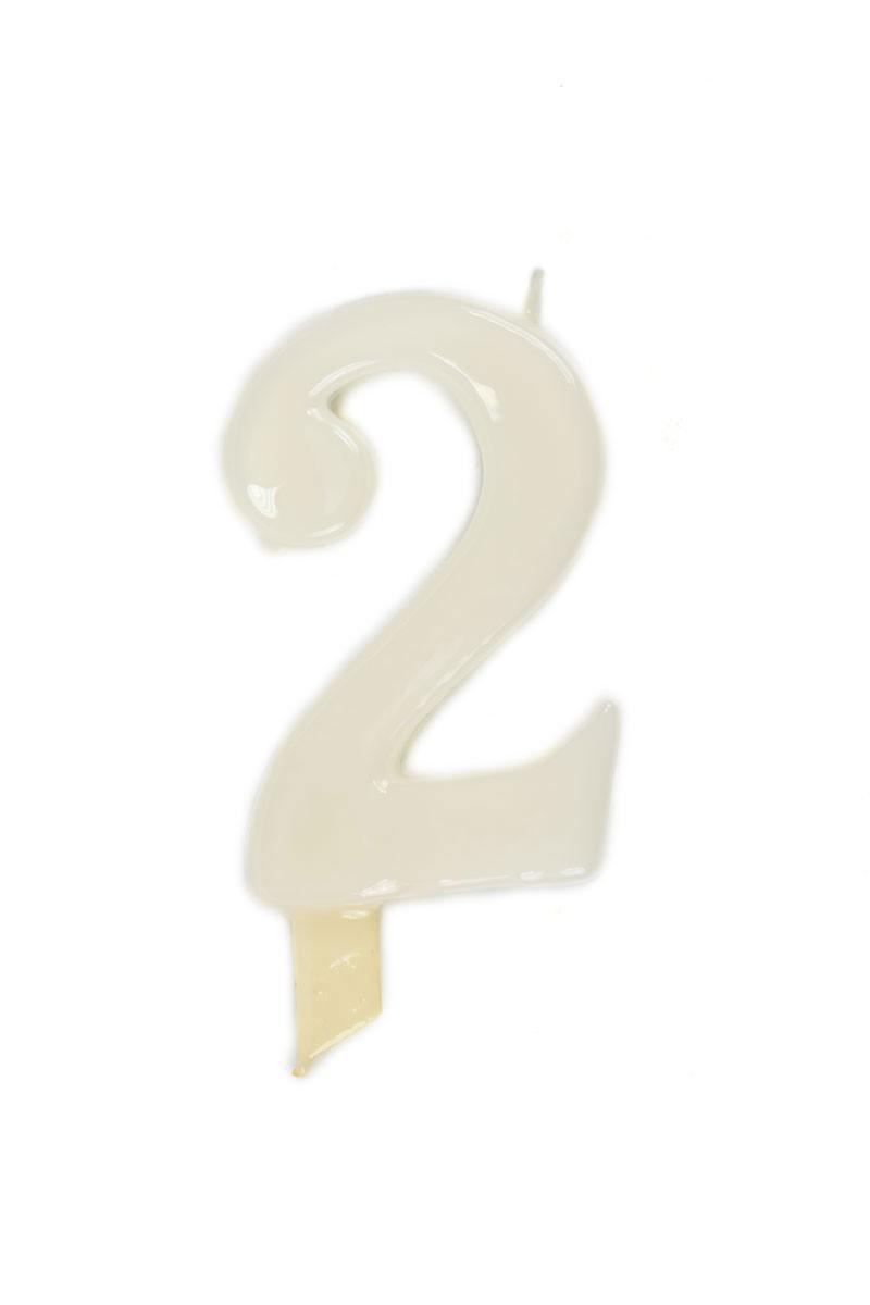 Vela de cumpleaños número 2 gigante Blanca