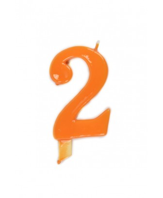 Vela de cumpleaños número 2 gigante Naranja