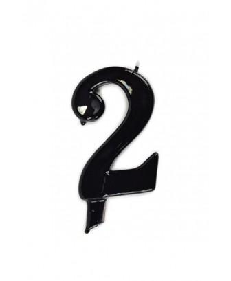Vela de cumpleaños número 2 gigante Negra