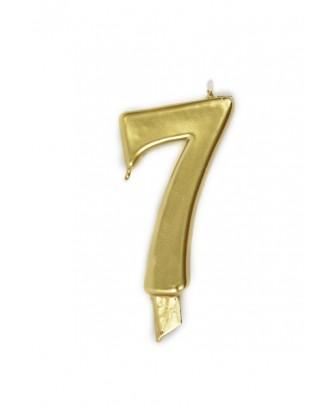 Vela de cumpleaños número 7 gigante Dorada
