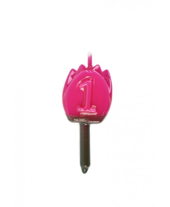 Vela Tulipán 1 Magenta