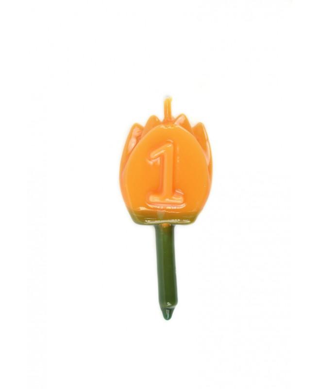 Vela Tulipán 1 Naranja