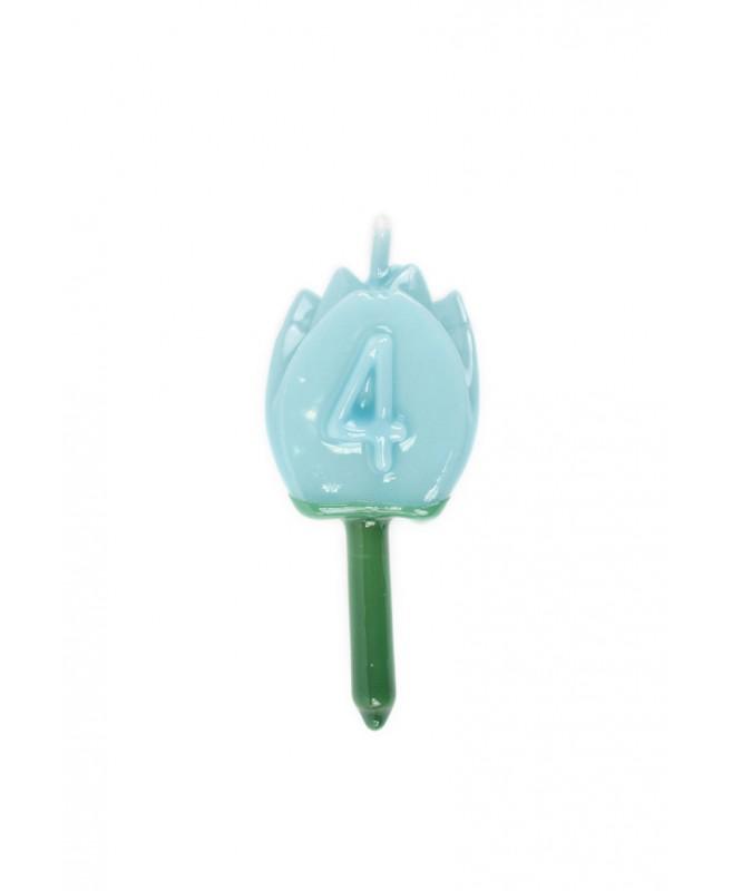 Vela Tulipán 4 Azul bebé