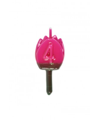 Vela Tulipán 4 Magenta