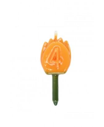 Vela Tulipán 4 Naranja