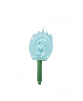 Vela Tulipán 6 Azul Bebé