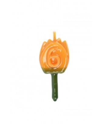 Vela Tulipán 6 Naranja