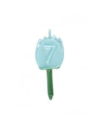 Vela Tulipán 7 Azul Bebé