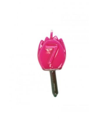 Vela Tulipán 7 Magenta