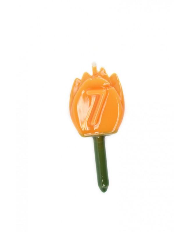 Vela Tulipán 7 Naranja