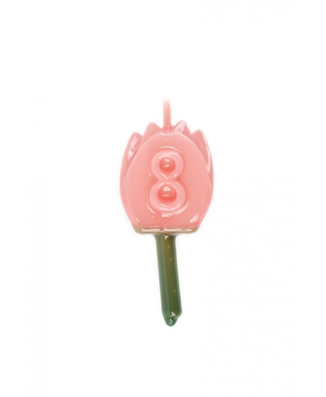 Vela Tulipán 8 Rosa Bebé