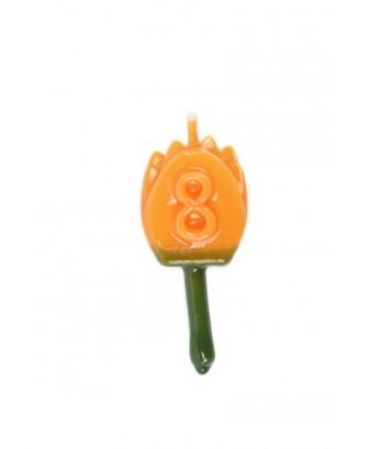 Vela Tulipán 8 Naranja