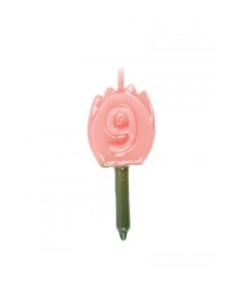 Vela Tulipán 9 Rosa Bebé