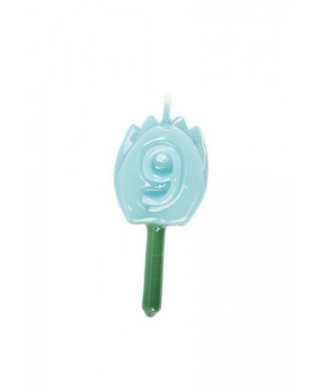 Vela Tulipán 9 Azul Bebé