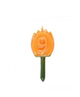 Vela Tulipán 9 Naranja
